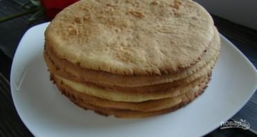 Медовый торт с карамельным кремом - фото шаг 9