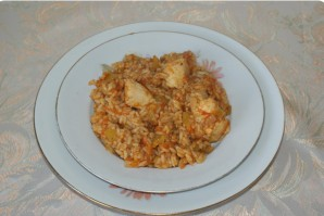 Тушеная курица с рисом - фото шаг 6