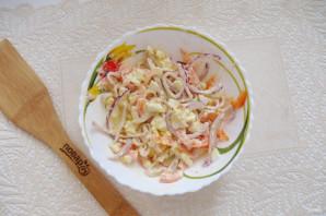 Салат с кальмарами и болгарским перцем - фото шаг 7