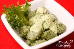 Картофельные клецки со шпинатом - фото шаг 5