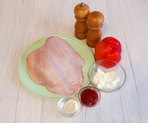 Куриная грудка на кости в духовке - фото шаг 1