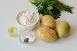 Постные картофельные лепешки - фото шаг 1