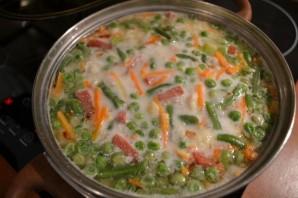 Сырный суп с сосисками - фото шаг 9