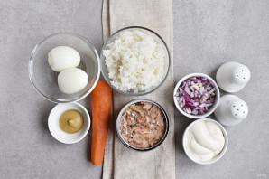 Салат из сайры консервированной - фото шаг 1
