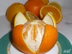 Апельсиновый фреш в блендере - фото шаг 2