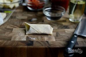Рулетики с сыром и колбасой - фото шаг 6