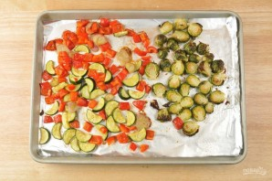 Багет с запечёнными овощами - фото шаг 3