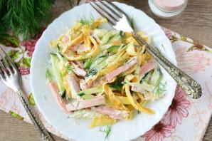 Салат из омлета и колбасы - фото шаг 11