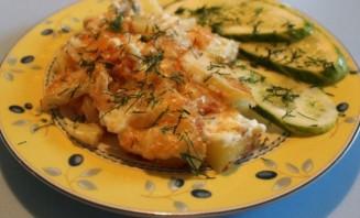 Куриные грудки с картошкой в духовке - фото шаг 6