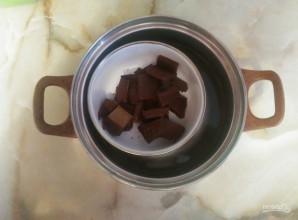 Шоколадный бисквит на темном шоколаде - фото шаг 2