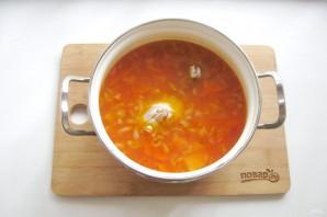 Томатный суп с фасолью и курицей - фото шаг 9