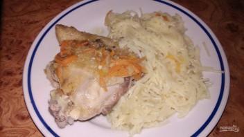 Курица с подливой и овощами - фото шаг 5