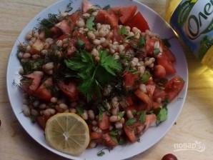 Салат с помидорами и фасолью - фото шаг 3