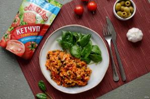 Рис с каперсами, оливками и кетчупом - фото шаг 7