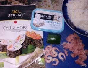 Роллы с рыбой и творожным сыром - фото шаг 1