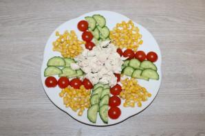 Салат с куриной грудкой и помидорами - фото шаг 5