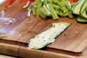 Овощные роллы - фото шаг 3