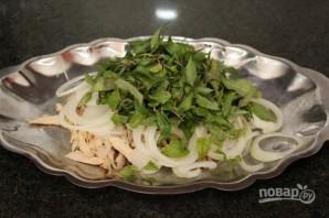 Салат из вареной курицы - фото шаг 6