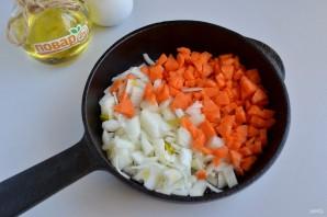 Паровой рулет с хеком и овощами - фото шаг 2
