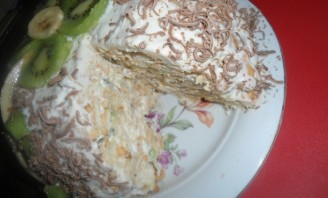 Торт из крекеров без выпечки - фото шаг 6