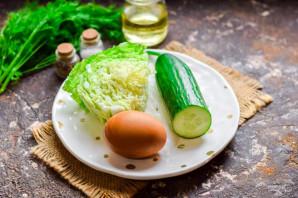 Салат с пекинской капустой - фото шаг 1