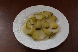 Салат из печени трески постный - фото шаг 6