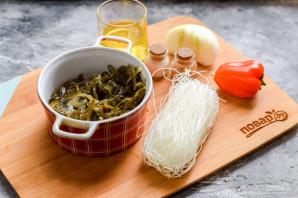 Салат с фунчозой и морской капустой - фото шаг 1