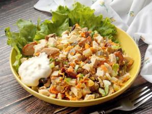Салат с курицей и белыми грибами - фото шаг 10