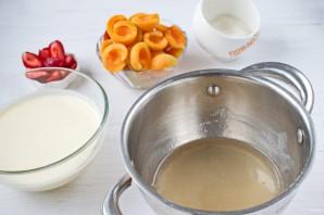 Желейный торт «Абрикосы в сметане» - фото шаг 3