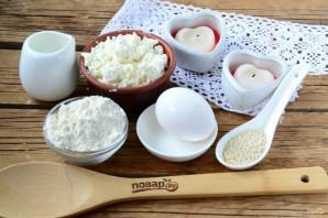 Творожные бублики с сыром - фото шаг 1