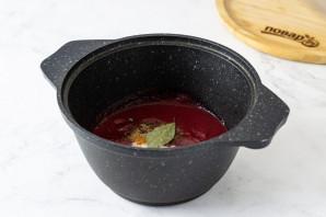 Томатно-сливовый соус на зиму - фото шаг 5