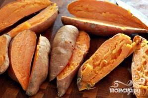 Ньокки из сладкого картофеля с сырным соусом - фото шаг 1