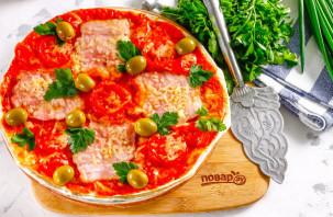 Пицца из лаваша в микроволновке - фото шаг 9