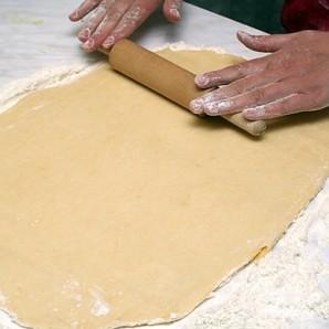 Пирог с сыром и мясом - фото шаг 9