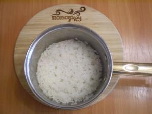 Лаваш с рисом и яйцом - фото шаг 2