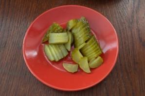 Салат из печени трески постный - фото шаг 4