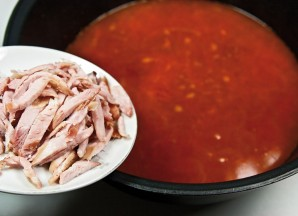 Солянка мясная на сковороде - фото шаг 12