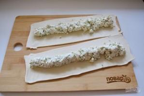 Витой пирог с творожно-сырной начинкой - фото шаг 6
