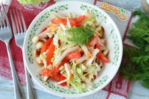 Салат с капустой, ветчиной и сухариками - фото шаг 11