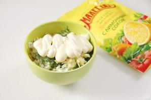 """Закуска """"Сырные шарики"""" с кунжутом и оливками - фото шаг 5"""
