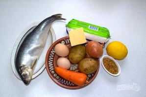 Слоеный салат с селедкой - фото шаг 1