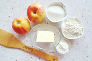 Яблочный пирог с решеткой - фото шаг 1