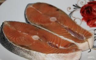 Семга в сливочном соусе в духовке - фото шаг 1
