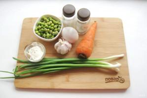 Салат с зеленым горошком и морковью - фото шаг 1