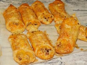 Грибные слойки с сыром - фото шаг 5