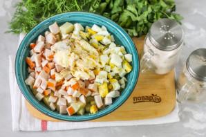 Салат с копченой курицей и картошкой - фото шаг 4