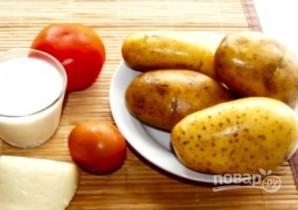 Картофельная запеканка с помидорами и сыром - фото шаг 1