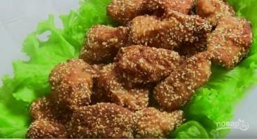 Куриное филе в панировке с кунжутом - фото шаг 6