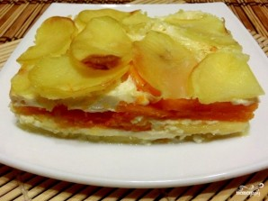 Картофельная запеканка с тыквой постная - фото шаг 7