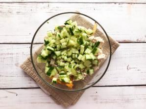 Салат с картошкой фри и курицей - фото шаг 4